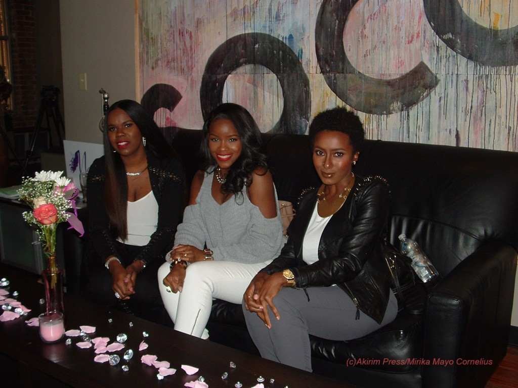 (left to right) Courtney Adeleye, Fash, Ambrosia Malbrough