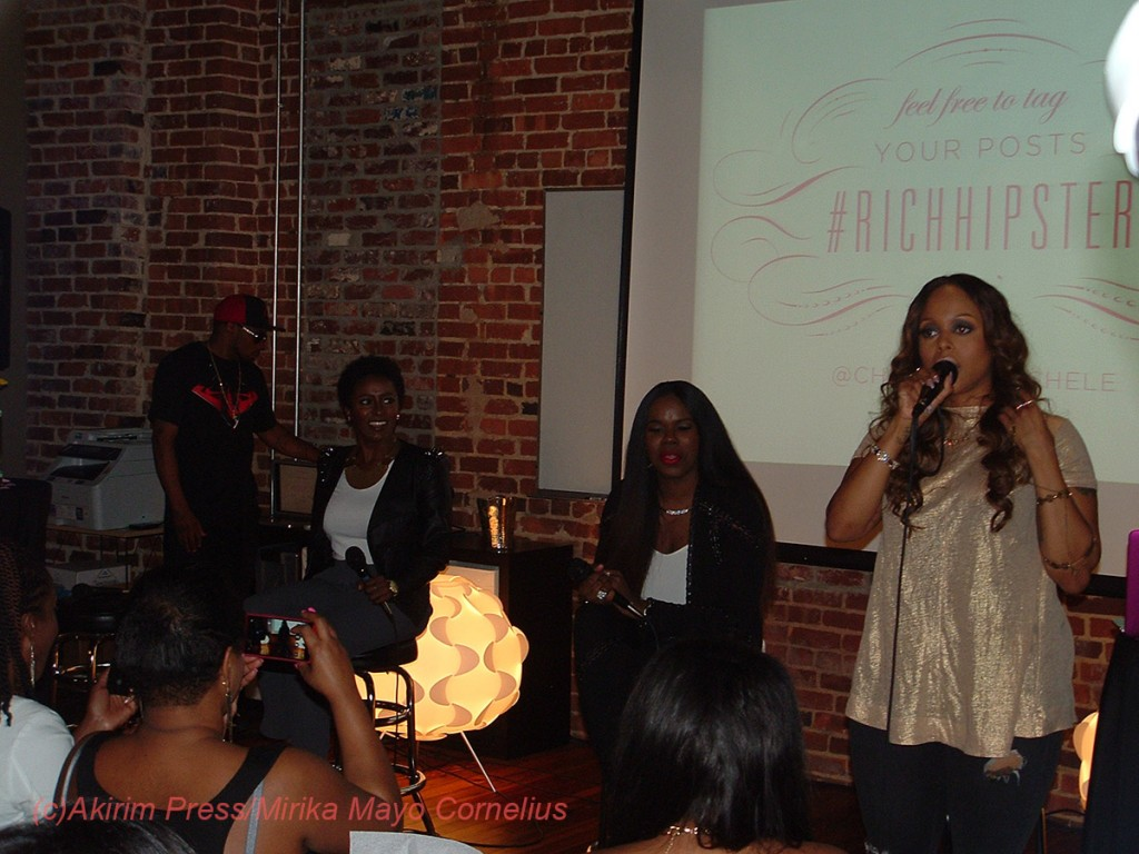 Chrisette Michele at the mic/Pose n Post in Columbia, SC