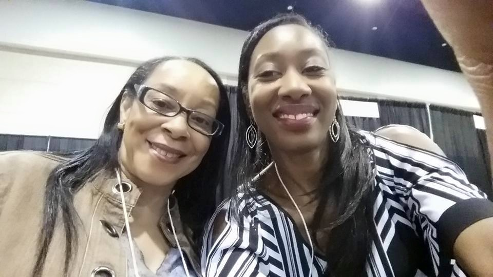 Christine Young Robinson and Mirika Mayo Cornelius(right) at 2015 SC Book Festival